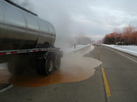 Driver: Sneeze Caused Corn Syrup Spill