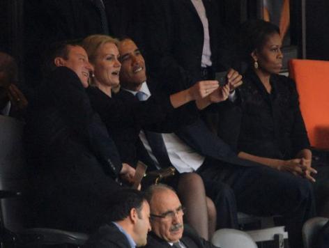 Obama, Cameron 'Selfie' at Mandela Memorial Causes Online Stir