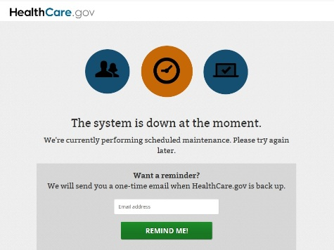 Two Hours Before Obama Presser, ObamaCare Site Crashes