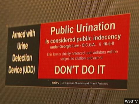 Atlanta Transit Deters Public Peeing with Urine Detection Device
