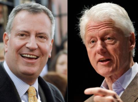 Bill Clinton Will Swear in Bill De Blasio as NYC Mayor