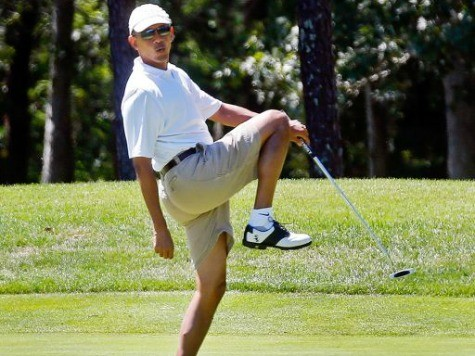 Obama Hits Golf Course After Announcing National Emergency