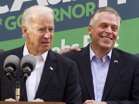 Biden Runs Away from Obamacare, POTUS at McAuliffe Rally