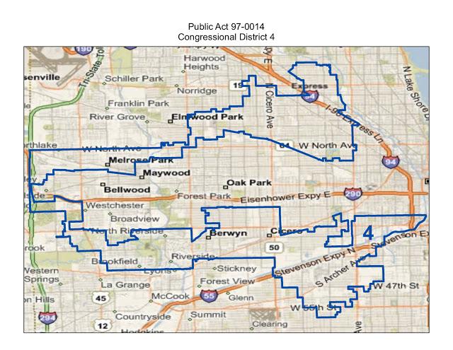 Illinois 4th District: Racial Gerrymandering & the Latin 'Earmuffs'