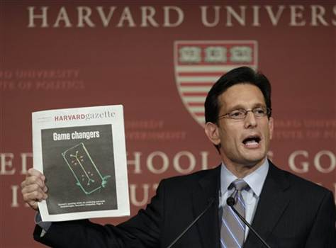 Cantor: 'We Shouldn't Be for a Gov't Shutdown'