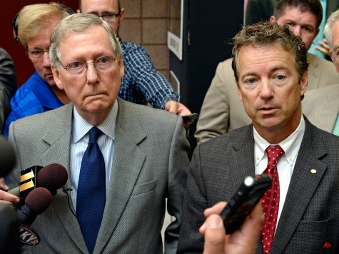 Rand Paul, Mitch McConnell Split on Ted Cruz's Anti-Obamacare Strategy