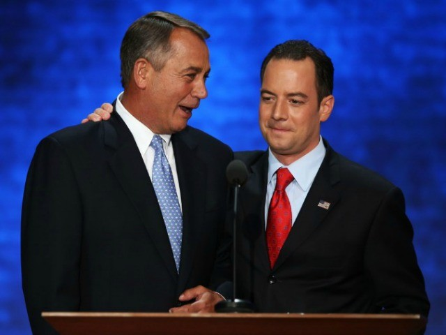 Exclusive–Reince Priebus to House GOP: Hold the Line in Fiscal Fight