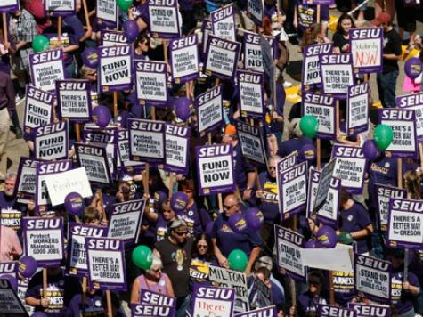SEIU Members Strike After Obamacare-Caused Job Cut