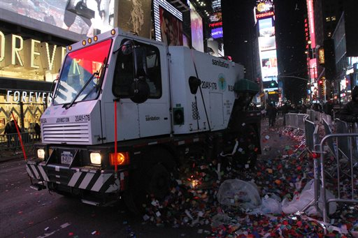 After the Times Square Party Comes the Cleanup