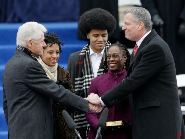 NYC Mayor de Blasio Takes Formal Oath at City Hall