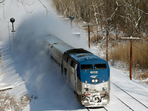Travelers Spend Night on 3 Snowbound Amtrak Trains
