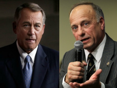 Claim: Boehner Calls Steve King 'A**hole' for Fighting Amnesty for Illegal Immigrants