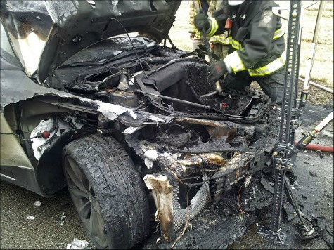 Fifth Tesla Car Fire in Five Months