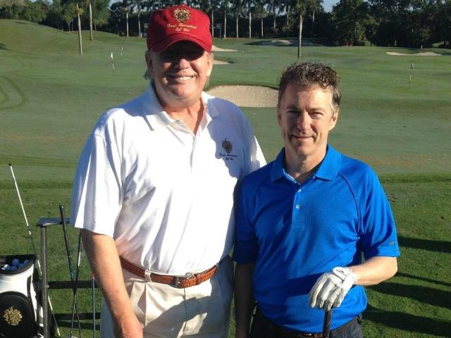 Rand Paul Golfs with Donald Trump