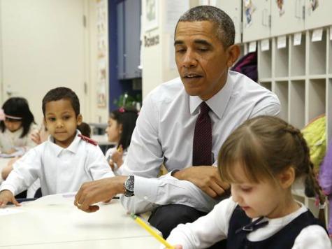 Obama Unveils Budget Pushing Amnesty at Bilingual Elementary School