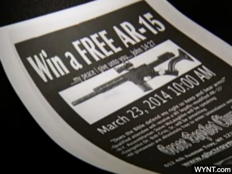 Church Distributes Flier with Photo of AR-15, 'My Peace I Give to You'