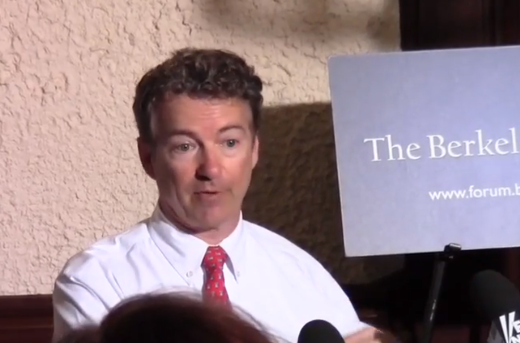Rand Paul Addresses Packed House at Berkeley