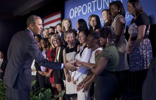 Obama Again Revives Equal Pay for Women Talking Point