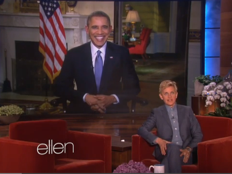 Obama's Threatens Daughters over Tattoos on Ellen Show