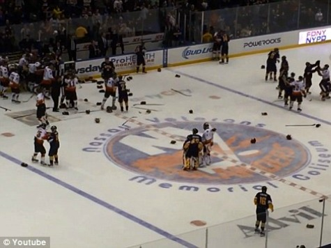NYC Police, Fire Brawl During Charity Hockey Match