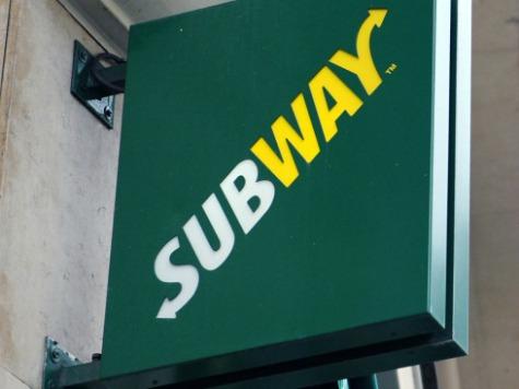 Bulletproof Subway Restaurant Sign of Chicago Violence