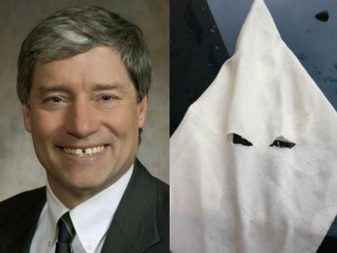 Wisconsin Democrat Brett Hulsey Sews KKK Hood to Give to GOP Legislators