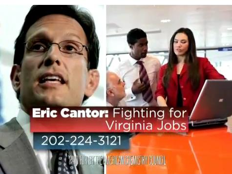 Crony Capitalist Panic: Ad Supporting Cantor First Primary Buy in American Chemistry Council's 142 Year History