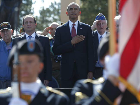 D-Day 70th Anniversary Crowd Cheers for Veterans During Obama's Speech