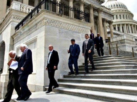 GOP Senators Scurry from NRSC HQ After McConnell's 'All In' for Thad Cochran Fundraiser