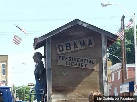 Independence Day Float Depicts Outhouse as Obama Presidential Library