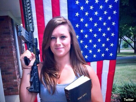 Army Wife Holly Fisher Under Fire for Posing with AR-15, US Flag, Bible