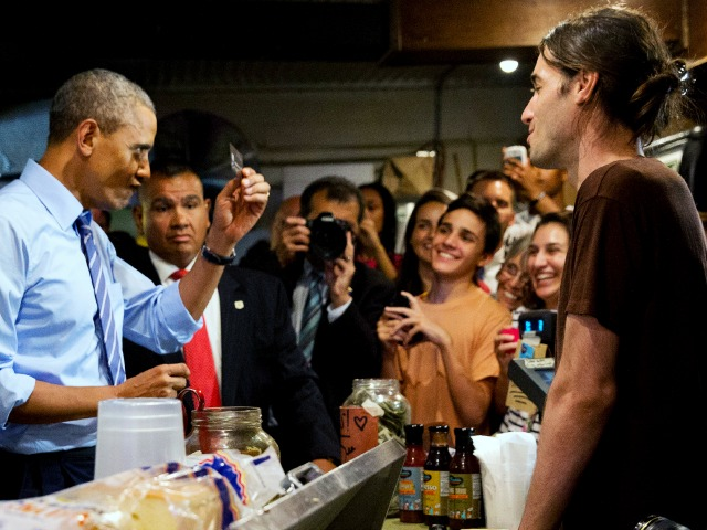 Obama Fist Bumps Texas Cashier Demanding 'Equal Rights for Gay People!'