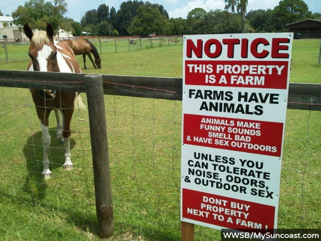 'Farm Animal Sex' Sign Tries to Scare Off Housing Development