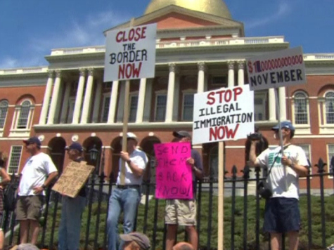 Bostonians Protest Outside State Capitol Against Housing Illegal Immigrants in Massachusetts