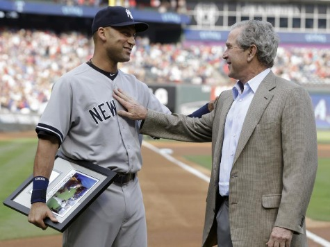 George W. Bush Honors Derek Jeter with Surprise Pregame Visit