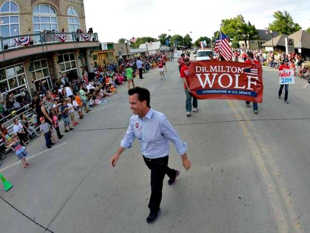 Tea Party Milton Wolf Edges Closer to Establishment Pat Roberts in Kansas Primary
