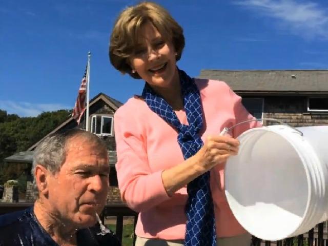 George W. Bush Challenges Bill Clinton to ALS Ice Bucket Challenge