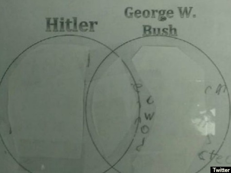 DC Teacher Makes Students Compare Adolf Hitler and George W. Bush
