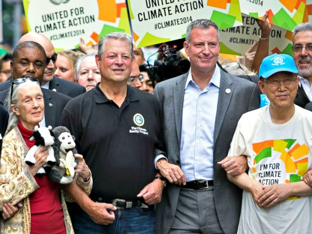 Al Gore Leaves People's Climate March in Chevy Suburban SUV