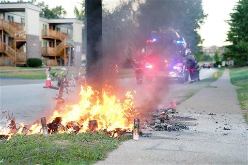 Fire Destroys Michael Brown Memorial in Ferguson