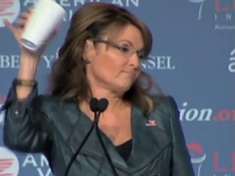 Sarah Palin Mocks Obama with Latte Salute