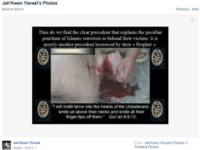 Alton Nolen's Facebook Page Depicted Beheading a Month Before Release from Probation