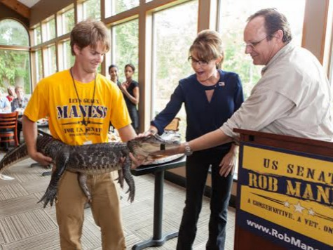 Palin Serves Gator Meat Campaigning for Conservative Rob Maness