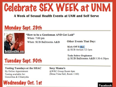 University of New Mexico Criticized for 'Sex Week' Sexual Assault Prevention Plan