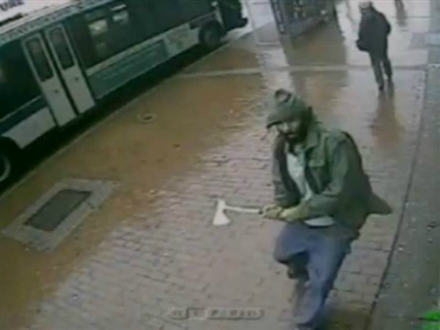 Man Attacks NYPD Officers with Hatchet Unprovoked