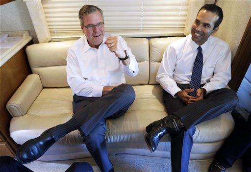 George P. Bush Says Dad Jeb 'Moving Forward' on 2016