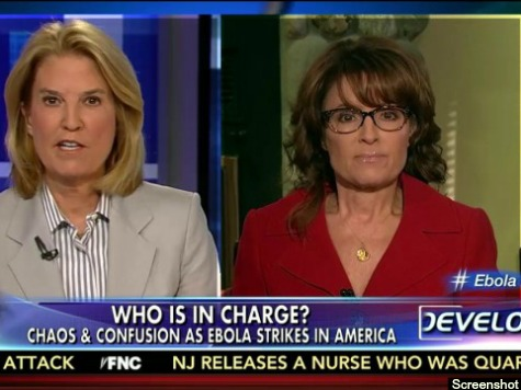 Sarah Palin: Obama Not Putting 'America First' during Ebola Crisis