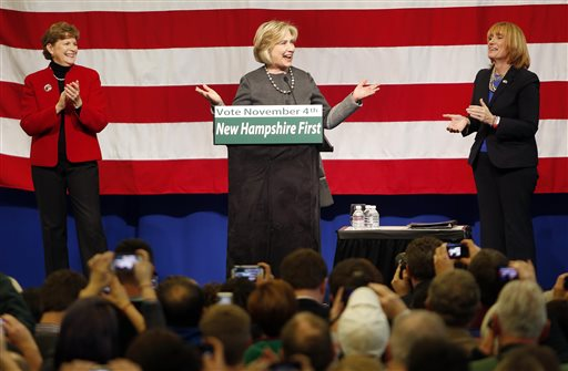 Hillary Clinton Makes First New Hampshire Appearance in 6 Years to Boost Shaheen