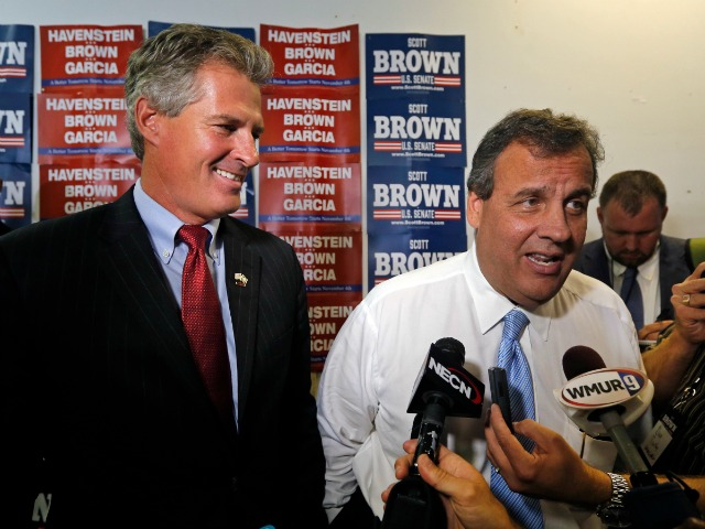 Chris Christie Gives Scott Brown, Walt Havenstein Final Bump in Granite State