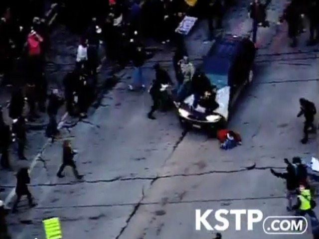 Caught on Tape: Car Runs over Ferguson Protester in Minneapolis